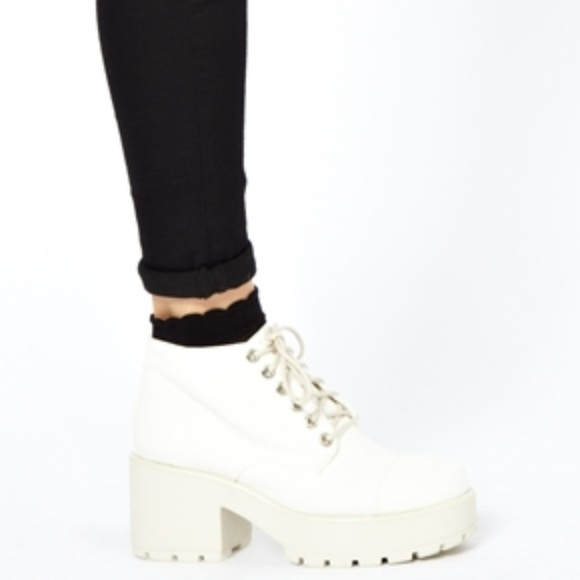 Iso White Chunky Vagabond Dioon Boots
